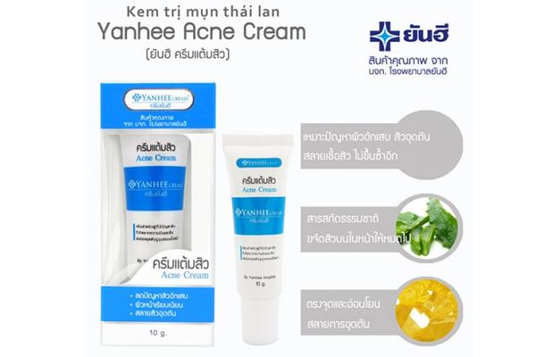 Sản phẩm kem trị mụn Yanhee Acne Cream là sản phẩm của bệnh viện Yanhee Thái Lan, đã được kiểm chứng nghiêm ngặt trước khi được đưa về Việt Nam
