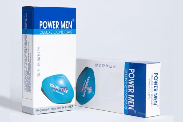 Bao cao su chống xuất tinh sớm Power Men Viagra